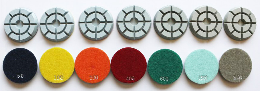 Floor diamond polishing pads for concrete