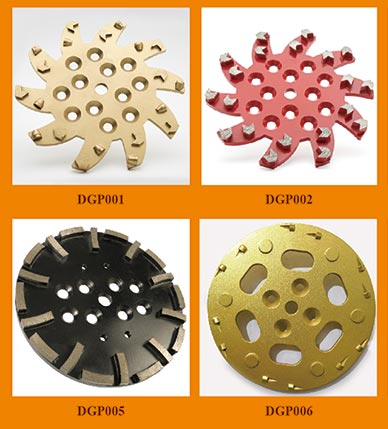 250mm diamond grinding plates