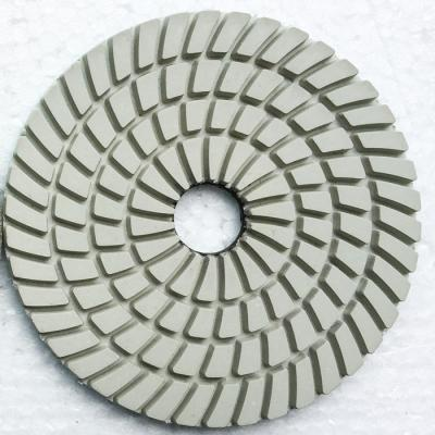 Wet diamond polishing pads for granite