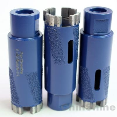 Dry diamond core drill bit for granite